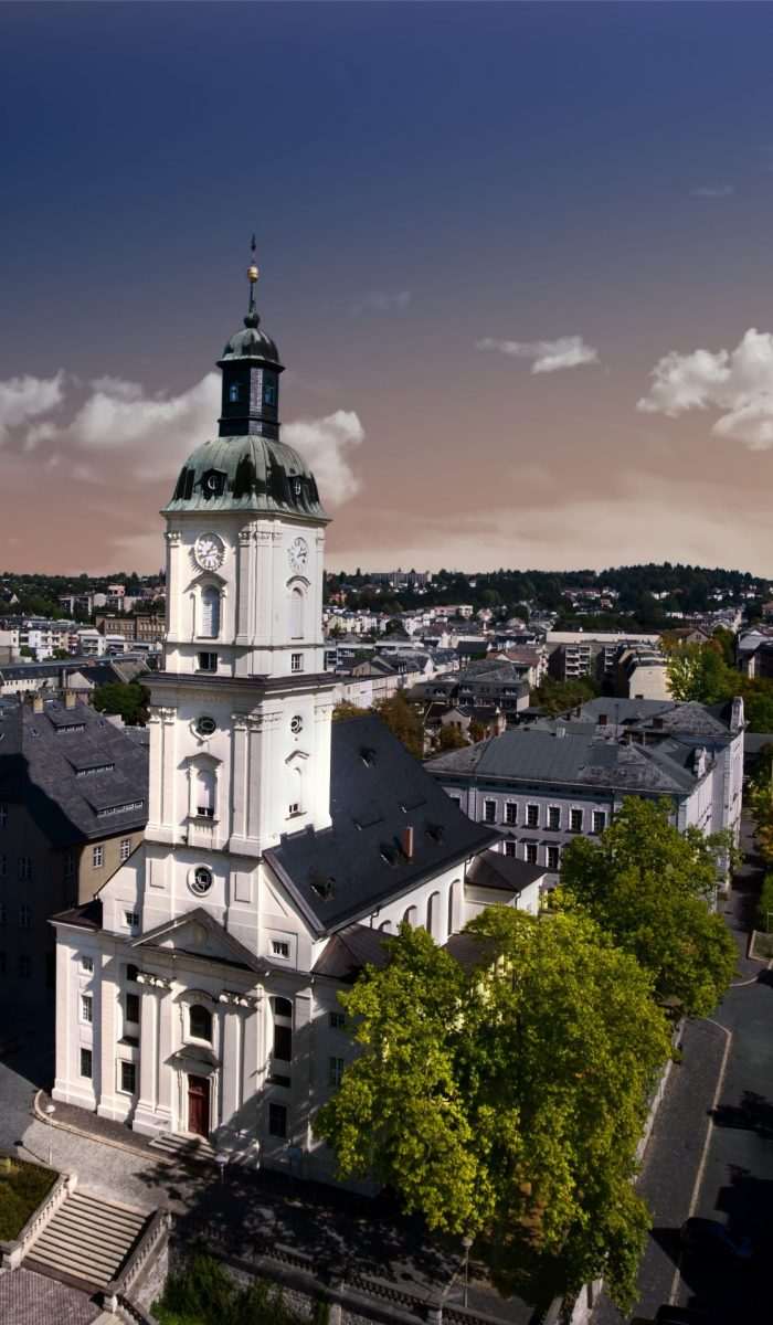 Salvatorkirche Gera church salvator aerial view thuringia